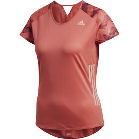 adidas AdiZero Camiseta Running Mujer, trasca/cburgu